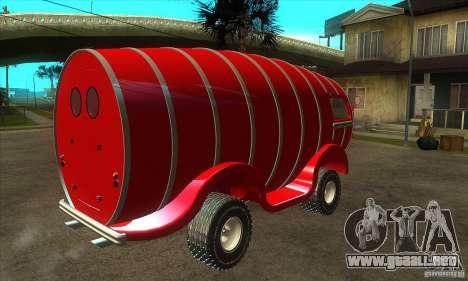 Beer Barrel Truck para la visión correcta GTA San Andreas