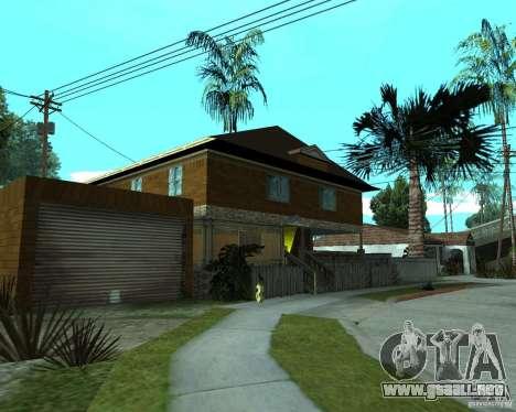 CJâ casa nueva para GTA San Andreas segunda pantalla