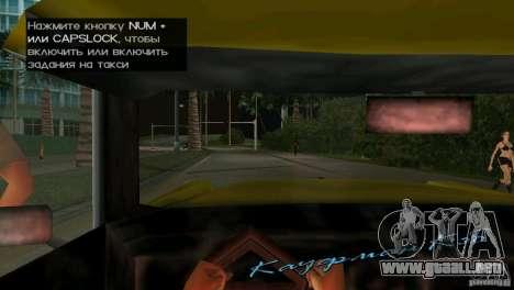 Vista desde la cabina para GTA Vice City quinta pantalla