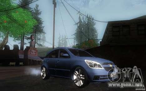 Chevrolet Agile 2012 para la visión correcta GTA San Andreas
