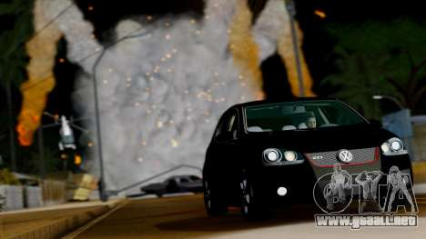 VW Golf V GTI 2006 para GTA San Andreas vista hacia atrás