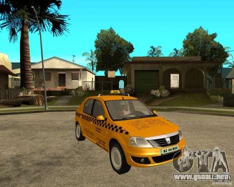 Dacia Logan Taxi Bucegi para la visión correcta GTA San Andreas