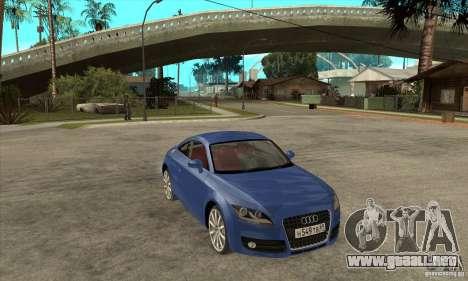 Audi TT 2007 para visión interna GTA San Andreas
