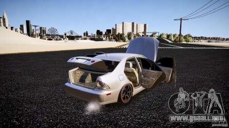 Lexus IS300 para GTA 4 vista superior