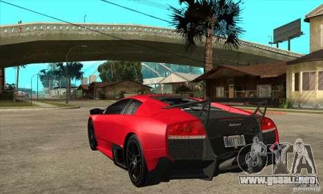 Lamborghini Gallardo LP570-4 SV para GTA San Andreas vista posterior izquierda