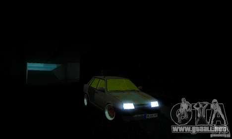 VAZ 21099 rata Mira para GTA San Andreas vista posterior izquierda