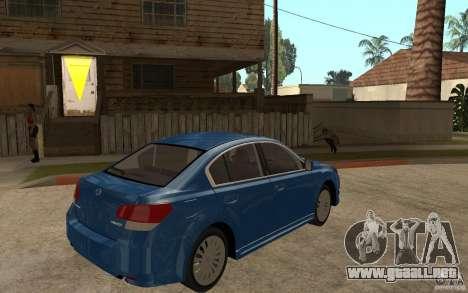 Subaru Legacy B4 2.5GT 2010 para la visión correcta GTA San Andreas