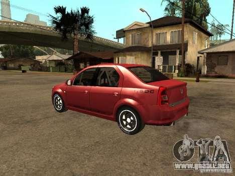 Dacia Logan Rally Dirt para GTA San Andreas left