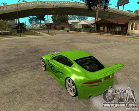 Aston Martin Vantage V8 - Green SHARK TUNING! para GTA San Andreas left