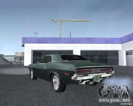 Dodge Challenger V1.0 para la visión correcta GTA San Andreas