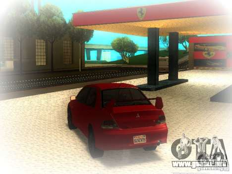 Mitsubishi Lancer Evolution IX MR 2006 para GTA San Andreas vista posterior izquierda