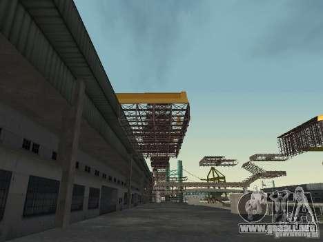 Huge MonsterTruck Track para GTA San Andreas quinta pantalla