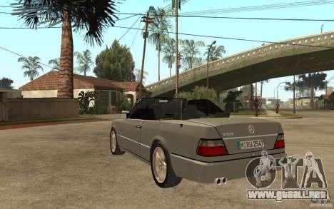 Mercedes-Benz E320 C124 Cabrio para GTA San Andreas vista posterior izquierda