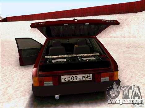 VAZ 2109 invierno para GTA San Andreas vista posterior izquierda