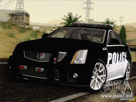 Cadillac CTS-V Police Car para GTA San Andreas vista posterior izquierda