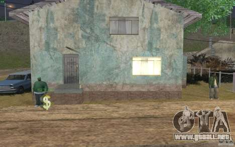 La casa verde para GTA San Andreas quinta pantalla