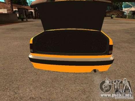Volga GAZ-31105 Taxi para la vista superior GTA San Andreas