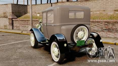 Ford Model T 1927 para GTA 4 Vista posterior izquierda