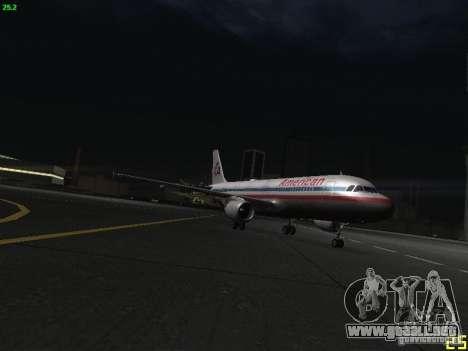 Airbus A320 para visión interna GTA San Andreas
