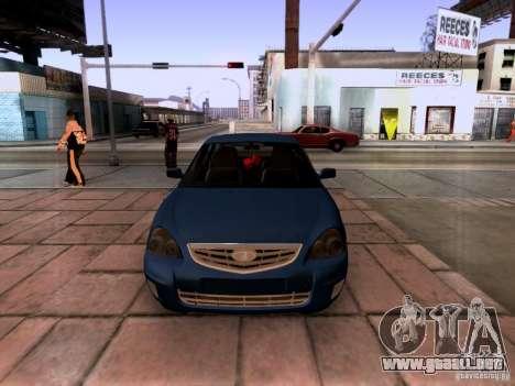 Lada Priora sedán para GTA San Andreas vista hacia atrás