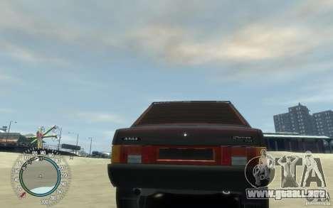 VAZ 21099 Duplet para GTA 4 vista hacia atrás