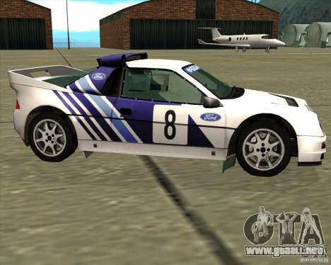 Ford RS200 rally para GTA San Andreas left