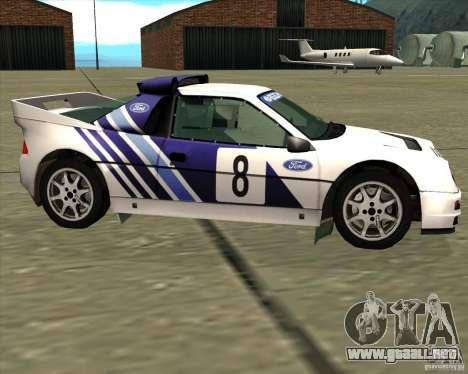 Ford RS200 rally para GTA San Andreas left