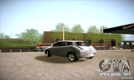 Nissan Leaf 2011 para GTA San Andreas left