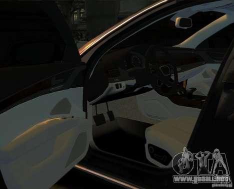 Audi A8 2010 para GTA 4 Vista posterior izquierda