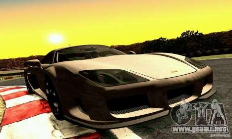 Noble M600 2010 V1.0 para visión interna GTA San Andreas