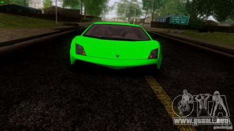 Lamborghini Gallardo LP570-4 Superleggera para GTA San Andreas vista hacia atrás