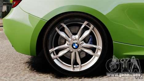 BMW M135i 2013 para GTA 4 vista superior