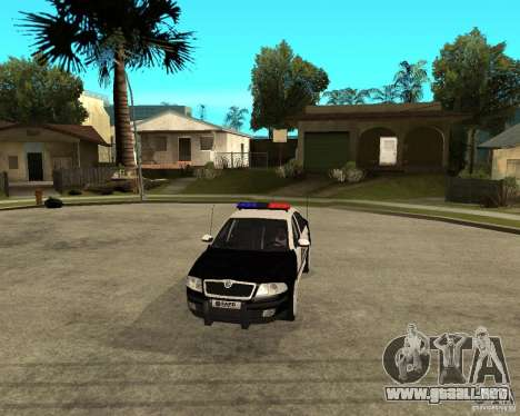Skoda Octavia II 2005 SAPD POLICE para visión interna GTA San Andreas