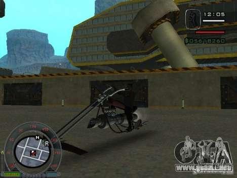 Moteros moto desde la ciudad de Alien para GTA San Andreas left