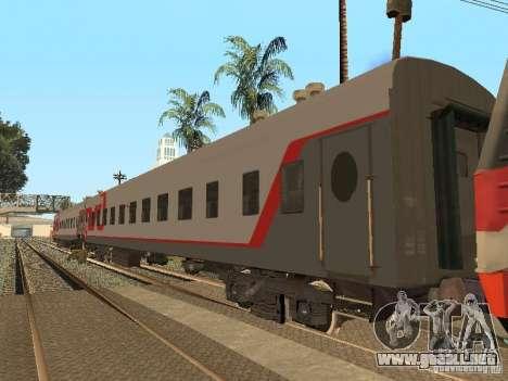 Coche de pasajeros RZD v2.0 para GTA San Andreas left