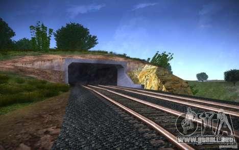 Rieles HD v 2.0 Final para GTA San Andreas quinta pantalla