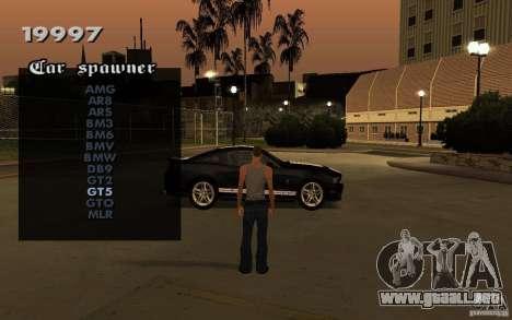 Vehicles Spawner para GTA San Andreas tercera pantalla