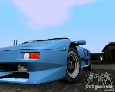 Lamborghini Diablo SV V1.0 para vista inferior GTA San Andreas