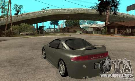Mitsubishi Eclipse GSX - Stock para GTA San Andreas vista posterior izquierda