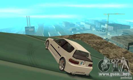 Honda Civic SiR II Tuning para GTA San Andreas vista posterior izquierda