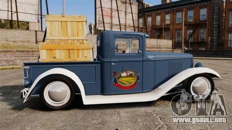 Ford Farmtruck MF 1932 para GTA 4 left