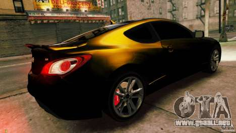 Hyundai Genesis Coupe 2010 para GTA 4 left