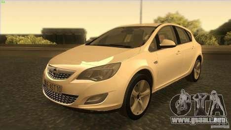 Opel Astra 2010 para GTA San Andreas left