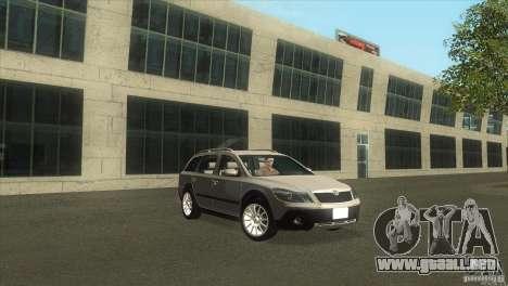 Skoda Octavia Scout para la visión correcta GTA San Andreas