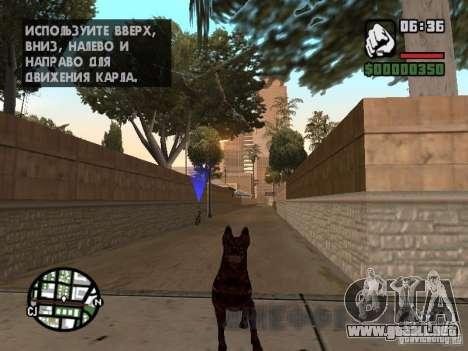 Cerberus de Resident Evil 2 para GTA San Andreas segunda pantalla