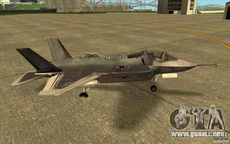 Lockheed F-35 Lightning II para GTA San Andreas left
