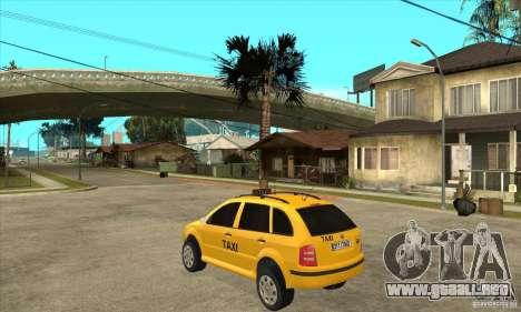 Skoda Fabia Combi Taxi para GTA San Andreas vista posterior izquierda