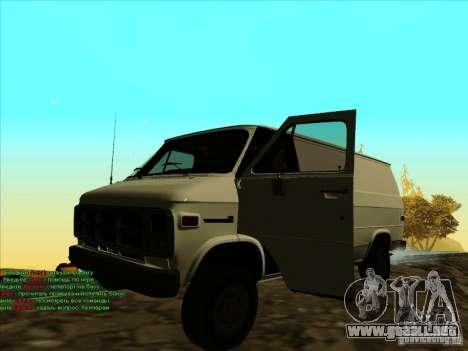 GMC Vandura C1500 para GTA San Andreas left