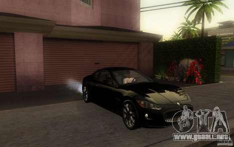 Maserati Gran Turismo S 2011 para GTA San Andreas left