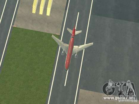 McDonell Douglas DC 10 Nortwest Airlines para visión interna GTA San Andreas
